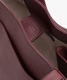 Filippa K Shelby Bucket Leather Bag - Bordeaux
