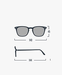 IZIPIZI SUN #E Sunglasses - Navy Blue/Grey Lenses