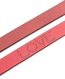 Rag & Bone Teigan Leather Belt - Fiery Red