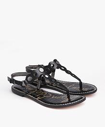 Sam Edelman Gilly Leather Sandals - Black