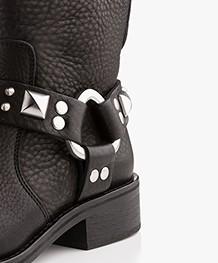 Zadig & Voltaire Empress Belt Biker Boots - Zwart