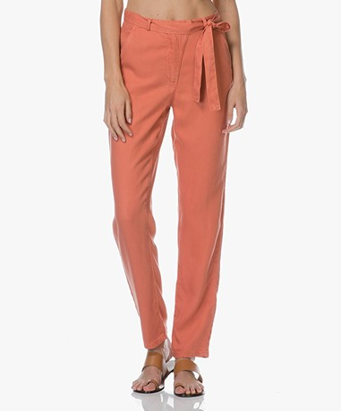 Marie Sixtine Sophie Viscose Twill Pants - Terracotta