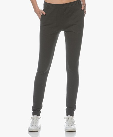 BY-BAR Mon Ribbed Jersey Pants - Off Black