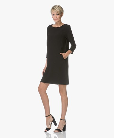 by-bar Zen Crepe Dress - Black