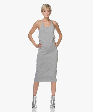 extreme cashmere N°62 Visible Knitted Cashmere Tank Dress - Grey