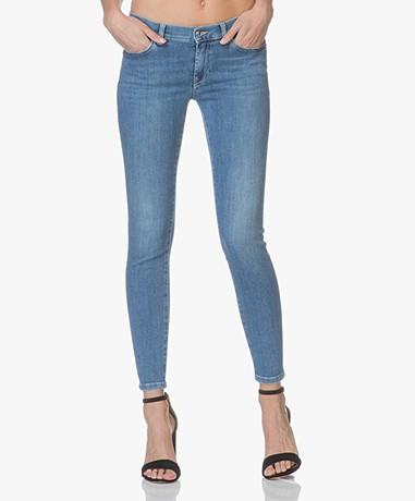 HUGO Gilljana Cropped Skinny Jeans - Washed Blue