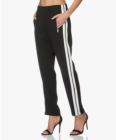 Rag & Bone Milo Track Pants - Black/White