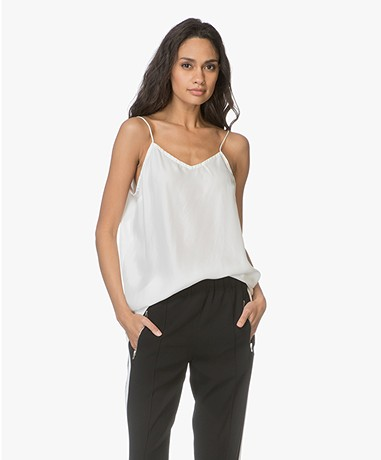 extreme cashmere n°69 Star Habotai Zijde Camisole - Off-white