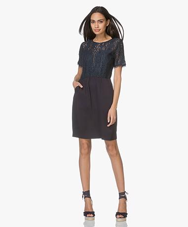 MKT Studio Rilman Lace Dress - Navy