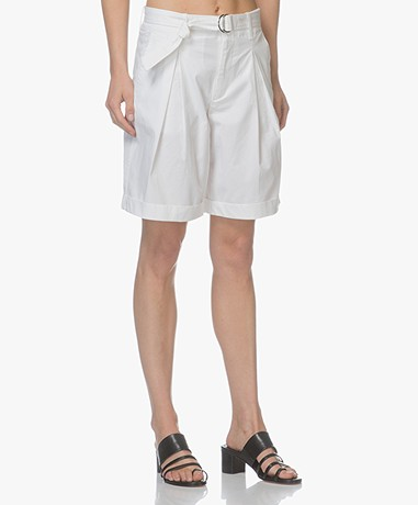 Filippa K Madison Belted Shorts - White