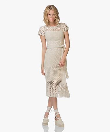 FWSS Kaja Gehaakte Midi-jurk - Antique White