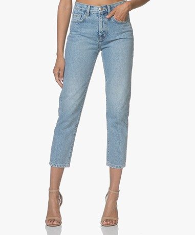 Current/Elliott The Vintage Cropped Slim Jeans with Print - Jasper