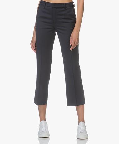 Filippa K Hudson Twill Cropped Pants- Navy