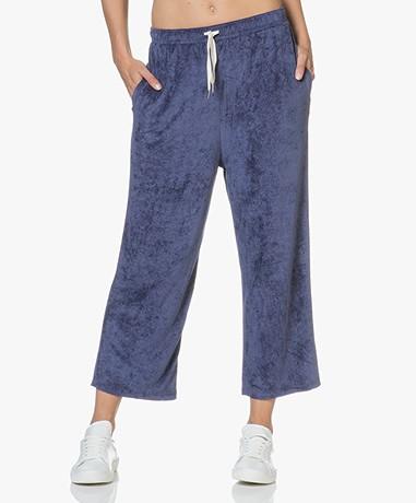 American Vintage Ponpon Velours Cropped Sweatpants - Satellite