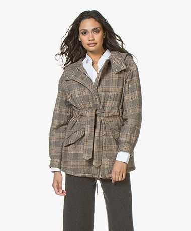 ba&sh Cox Quilted Mid-length Coat - Brown