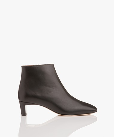 ATP Atelier Clusia Leather Ankle Boots - Black Vacchetta