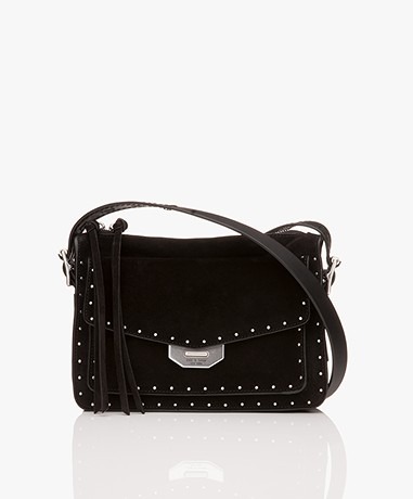 Rag & Bone Small Field Messenger Shoulder Bag - Black Studs