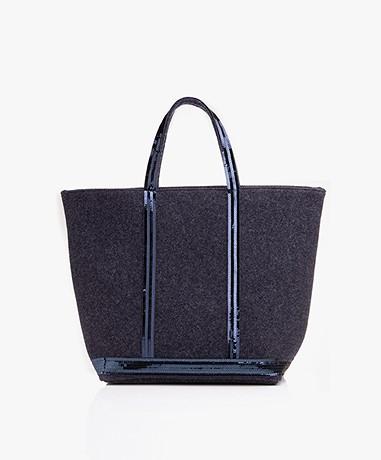 Vanessa Bruno Medium Shopper in Vilt - Denim