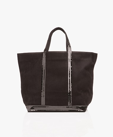 Vanessa Bruno Medium Leren Shopper - Zwart