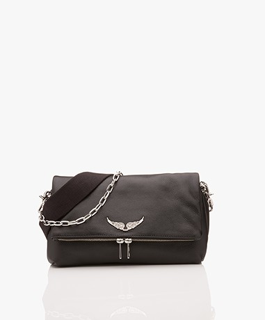 Zadig & Voltaire Rocky Leather Cross-body/Shoulder Bag - Black