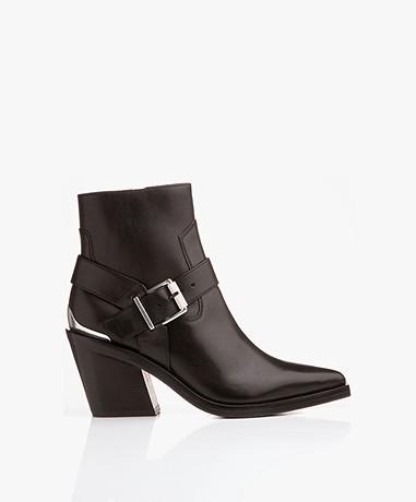 Rag & Bone Ryder Leather Booties - Black
