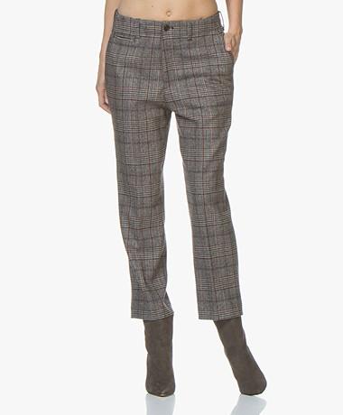 Closed Bertha Wool Checkered Pants - Grey/Brown