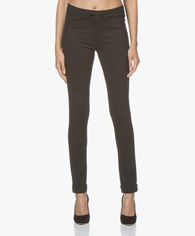 Repeat Viscosemix Jersey Pantalon - Zwart