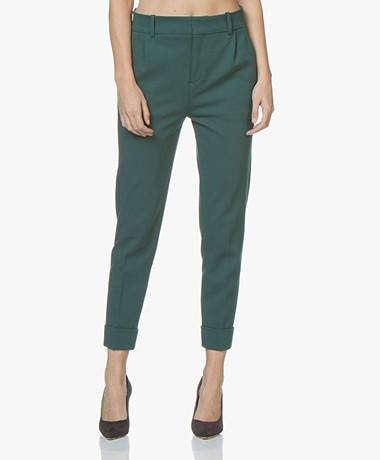 Drykorn Emom Ponte Jersey Cropped Pants - Bottle Green