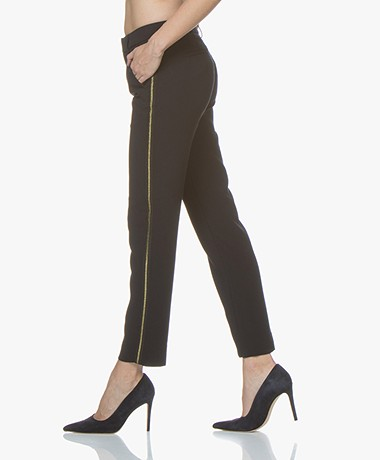 MKT Studio Principal Pants with Lurex Details - Navy