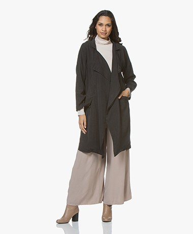 Friday's Project Lyocell Open Trenchcoat - Grijs