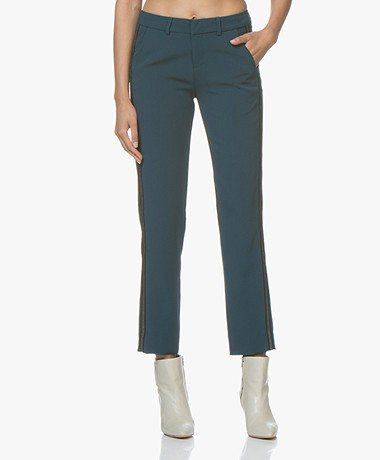 MKT Studio Principal Pants with Lurex Details - Emeraude