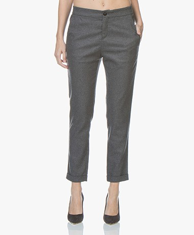 BOSS Sasizy Wool Blend Pants - Charcoal