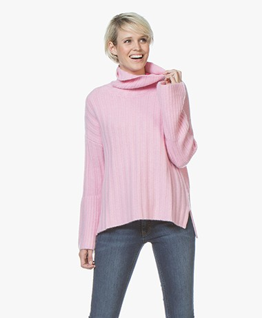 Repeat Pure Cashmere Turtleneck Sweater - Rose