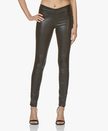 Zadig & Voltaire Pharel Leather Slim-fit Pants - Black
