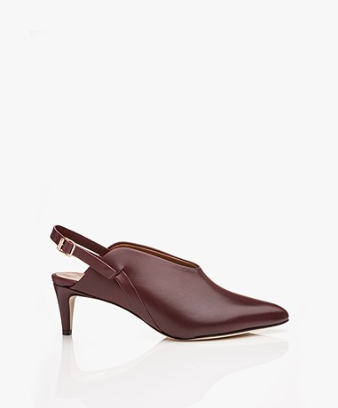 ATP Atelier Abra Leather Slingback Pumps - Brunello