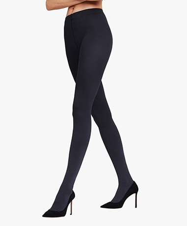 FALKE Pure Matt 100 Tights - Marine
