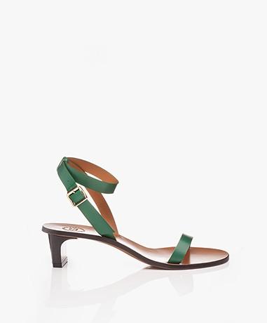 ATP Atelier Cachi Vacchetta Heeled Sandals - Basil Green