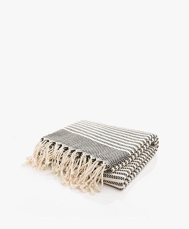Bon Bini Hammam Towel Nawati 180cm x 90cm - Black
