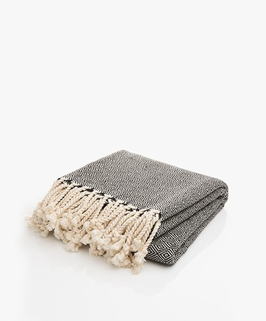 Bon Bini Hammam Towel Nikiboko 180cm x 90cm - Black