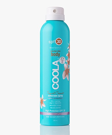 COOLA Sunscreen Spray Body SPF 30 - Tropical Coconut