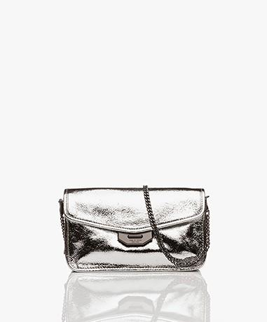 Rag & Bone Field Shoulder Bag/Clutch - Silver Crackle