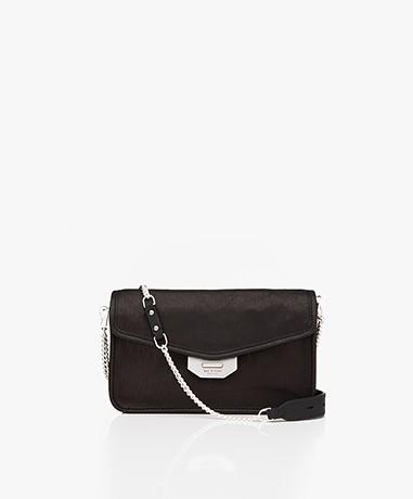 Rag & Bone Field Leather Clutch/Shoulder Bag - Black