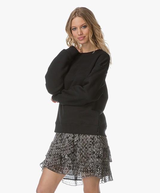 IRO Newla Sweater met Afneembare Mouwen - Zwart