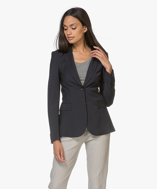 Filippa K Eve Cool Wool Blazer - Donkerblauw