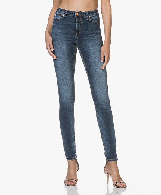 Closed Lizzy Hyper Stretch Skinny Jeans - Donker Easy Wash
