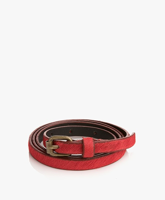 BY-BAR Hair Narrow Belt - Bright Red