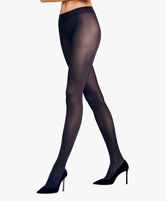 FALKE Seidenglatt 40 Denier Tights - Marine