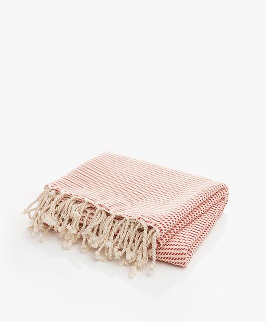 Bon Bini Hammam Towel 180cm x 90cm - Red