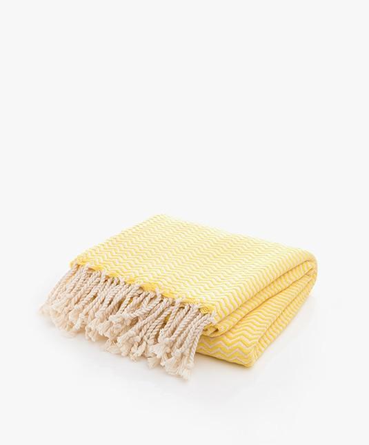 Bon Bini Hammam Towel Chikitu 180 cm x 90 cm - Yellow