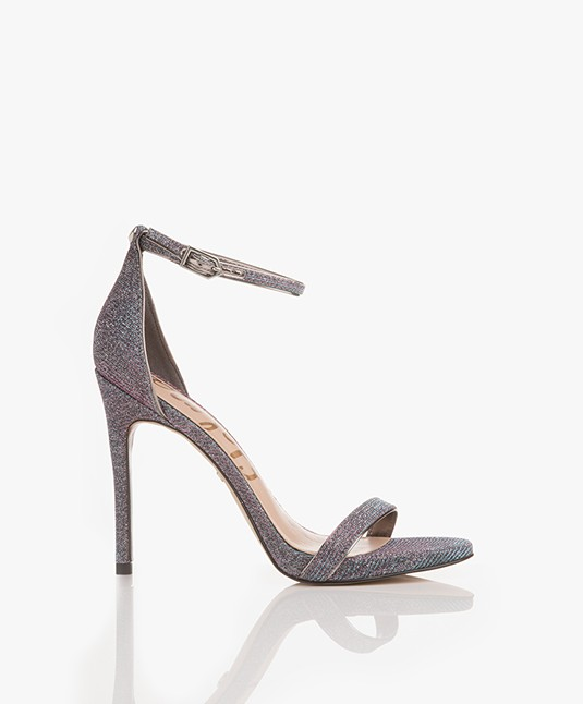 Sam Edelman Ariella Flash Glitz Ankle Strap Sandalen - Roze/Blauw Multi